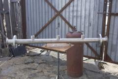 Коллектор из нержавейки для насосной станции