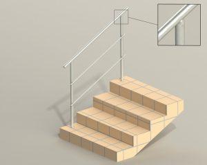 Комбинированная серия лестничных ограждений (перил) через СПС